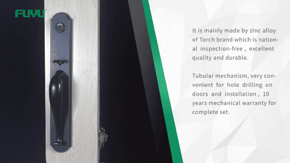Tubular grip handle door lock demonstration