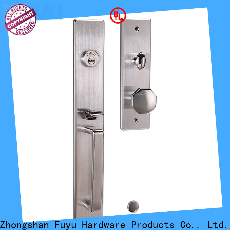latest stainless steel lock handleset in china for residential