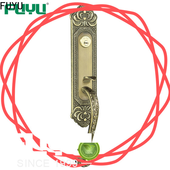 FUYU top double sided key lock with latch for indoor