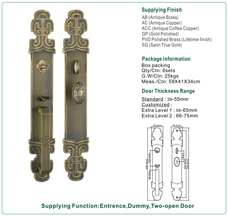 product-FUYU-brass door lock gold for shop FUYU-img