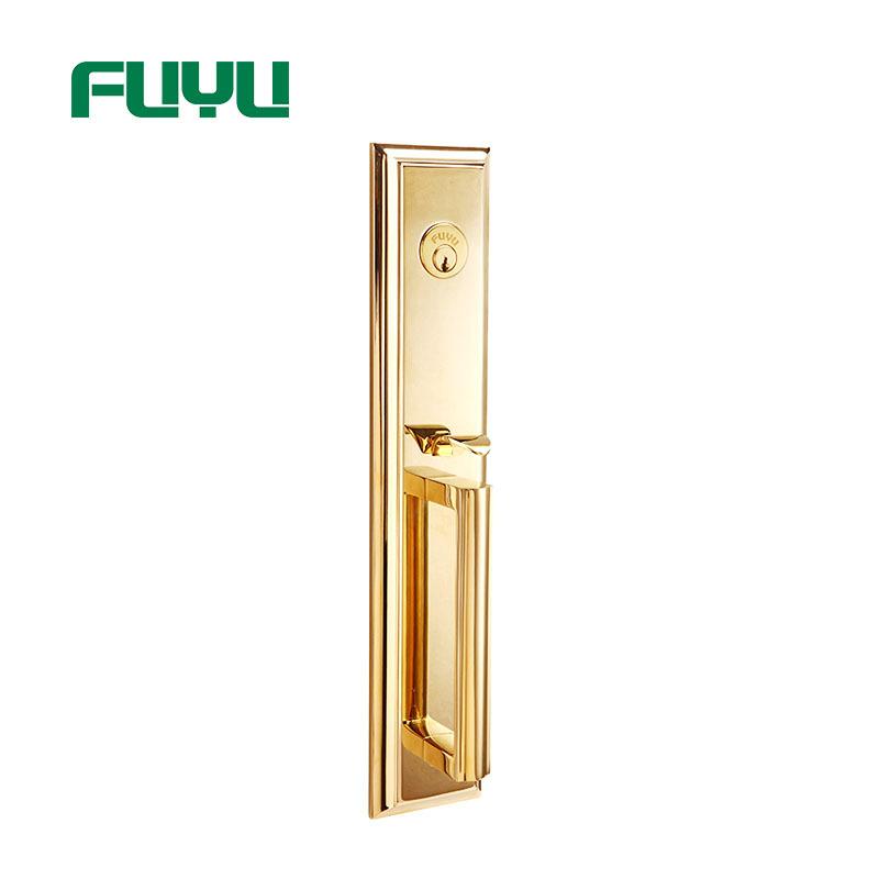 Dubai Plain Style Easy To Install Gold Door Handle Locks