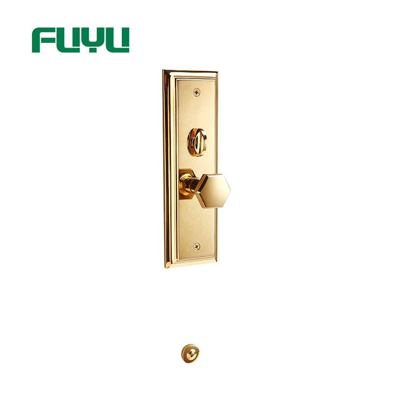 product-Dubai Plain Style Easy To Install Gold Door Handle Locks-FUYU-img