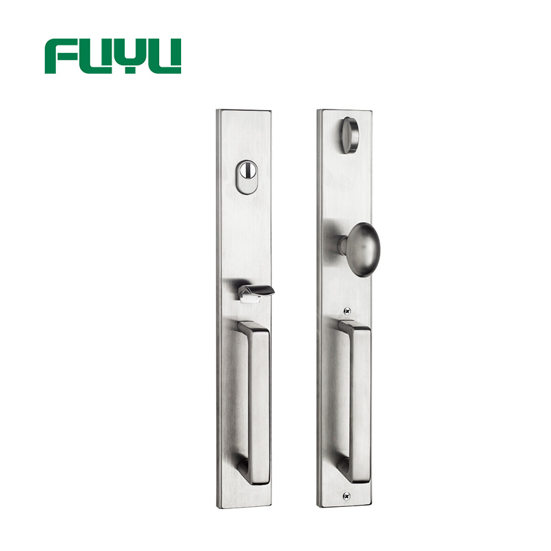 electric stainless steel sliding door lock single on sale for shop-1