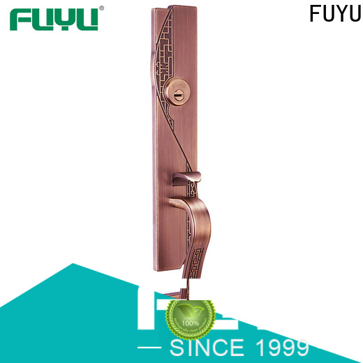 FUYU oem zinc alloy door lock for metal door with latch for mall