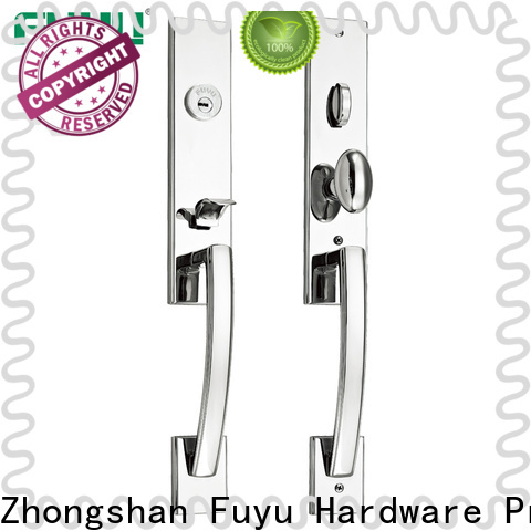 FUYU open stainless steel gate lock with international standard for shop