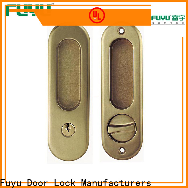 FUYU aluminium sliding door locks manufacturer for wooden door