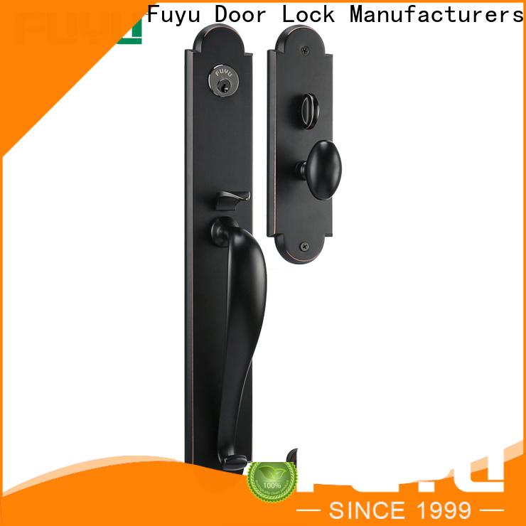 FUYU custom zinc alloy handle door lock with latch for entry door