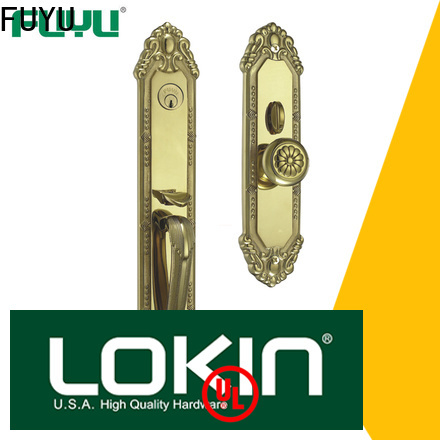 FUYU high security mortise lock brass with latch for wooden door