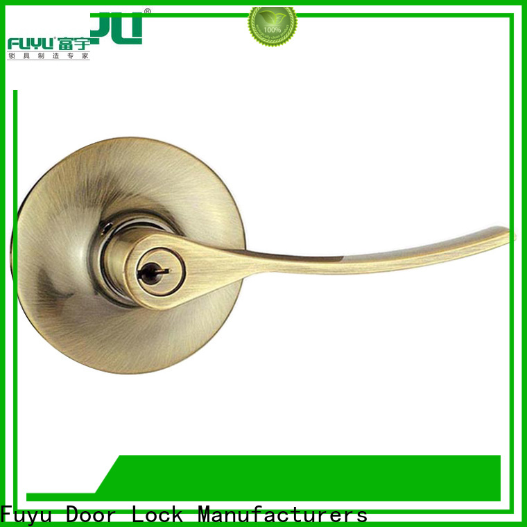 FUYU entrance door locks with international standard for entry door