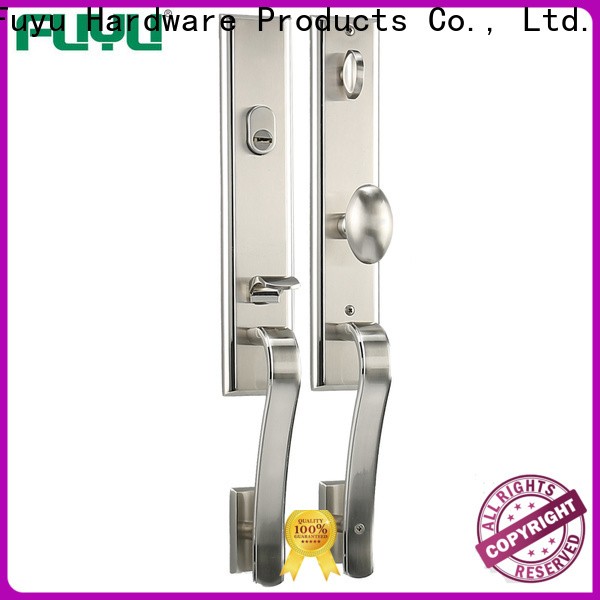 FUYU quality zinc alloy entry door lock with latch for mall