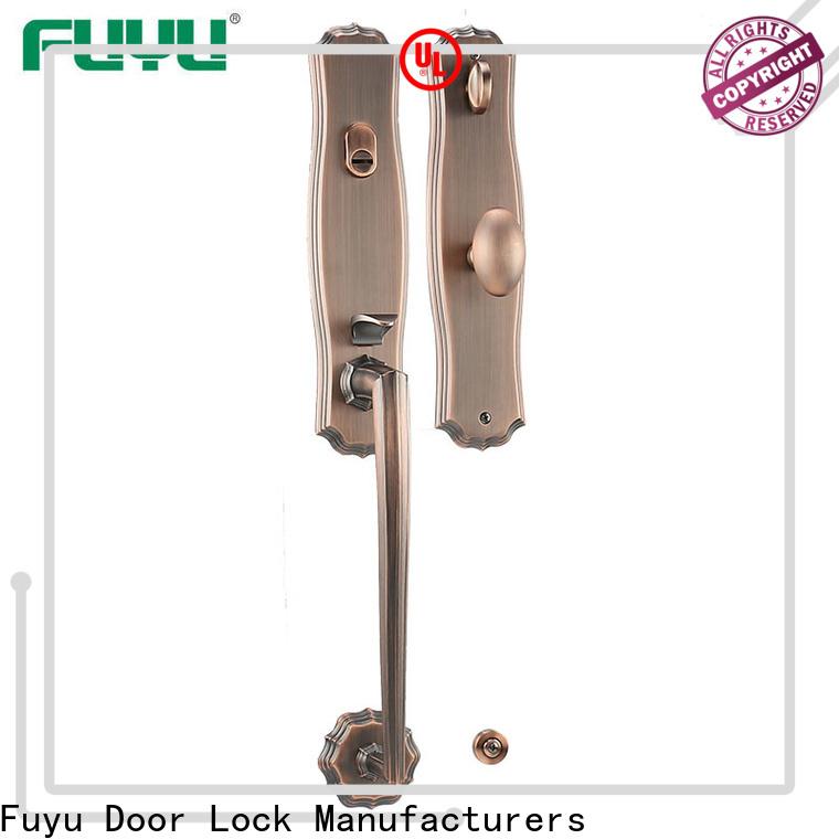 FUYU grip handle door lock manufacturer for mall