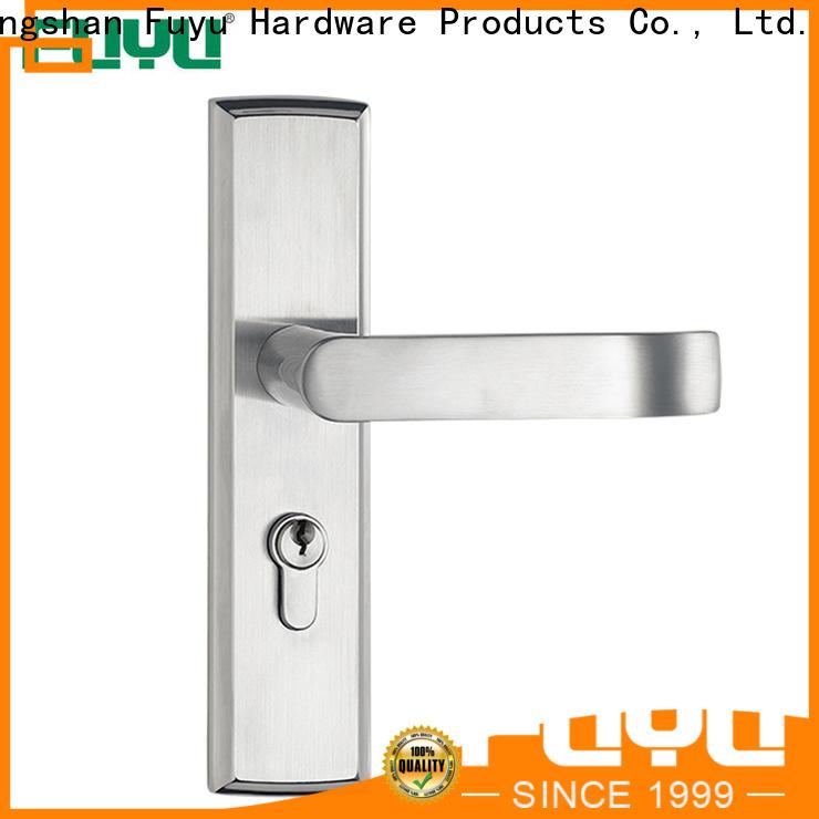 FUYU mortise door handle on sale for shop
