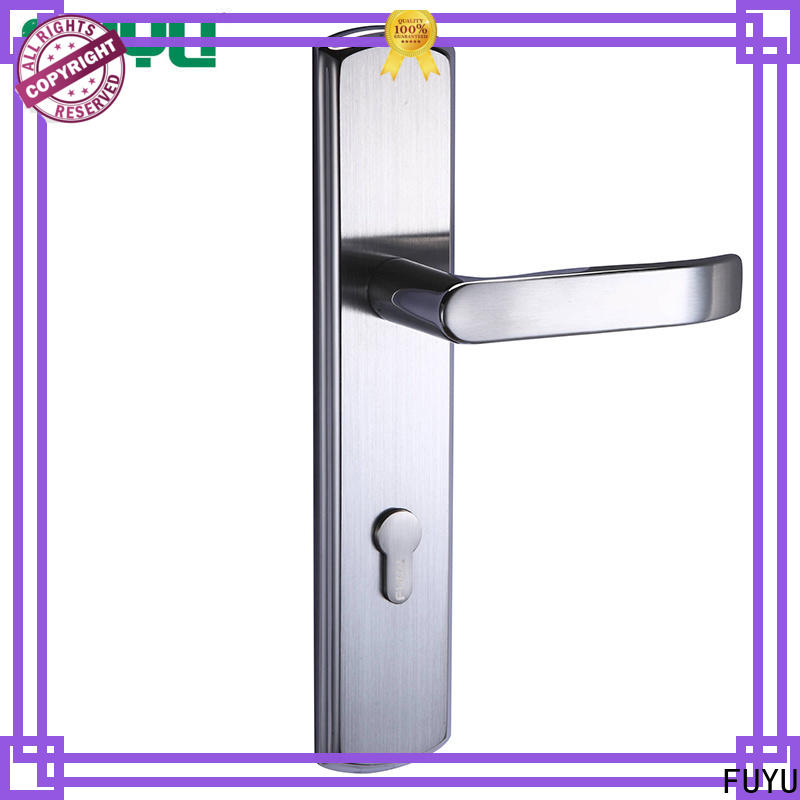 FUYU custom stainless door lock on sale for wooden door