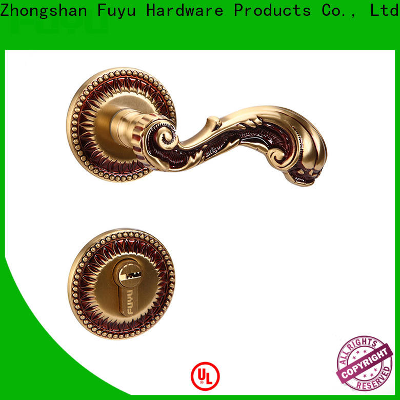 FUYU high security brass rosettes for sale for wooden door