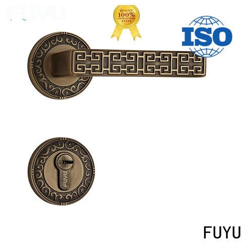 FUYU gold door lock hardware meet your demands for wooden door