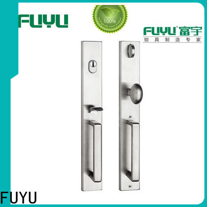 electric stainless steel sliding door lock single on sale for shop
