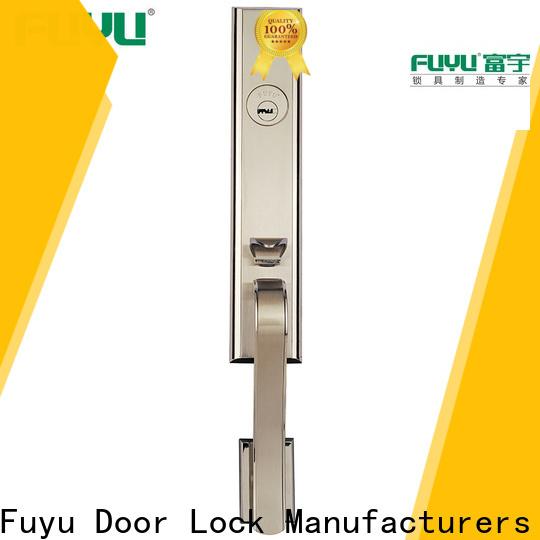 FUYU look zinc alloy door lock for wood door with latch for entry door