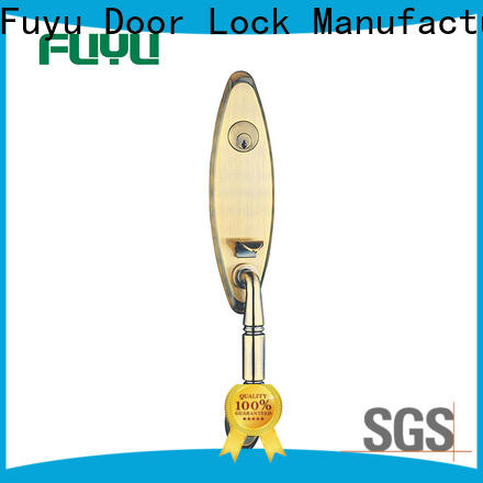 FUYU year bathroom door handle with lock with latch for mall