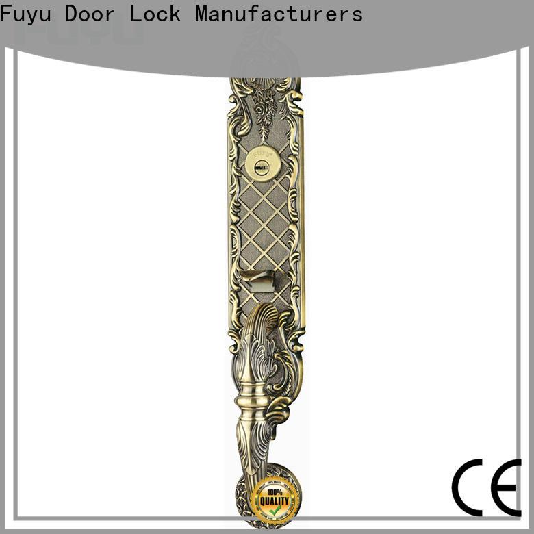 FUYU oem zinc alloy villa door lock on sale for shop