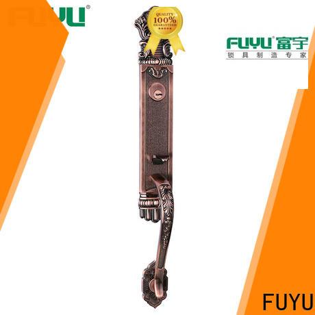 FUYU high security zinc alloy grip handle door lock on sale for entry door