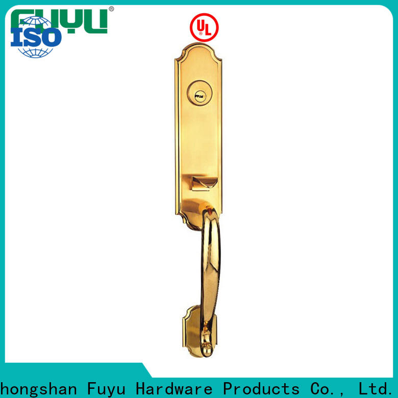 FUYU trim zinc alloy door lock with latch for indoor