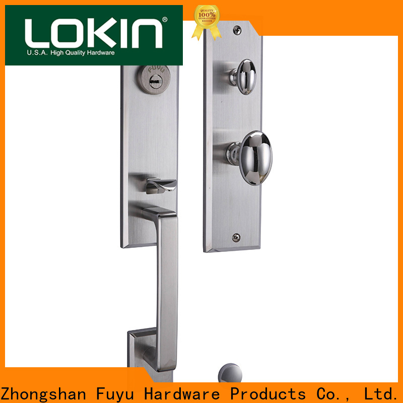 FUYU security stainless steel lock with international standard for wooden door