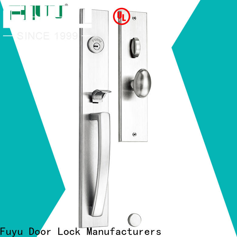 FUYU oem stainless steel handle door locks with international standard for wooden door