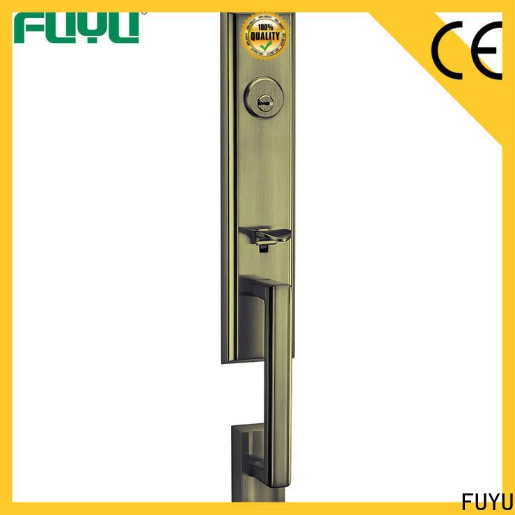 FUYU antipanic zinc alloy handle door lock with latch for indoor