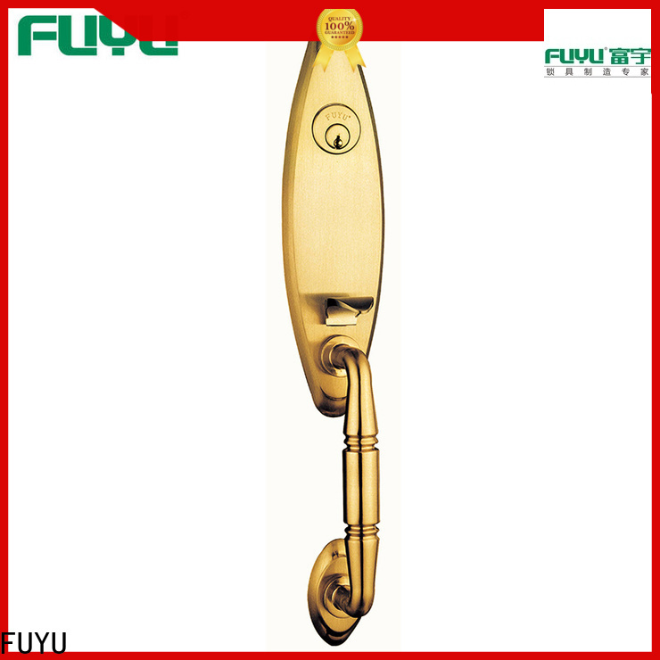 FUYU wood simple door lock with latch for shop