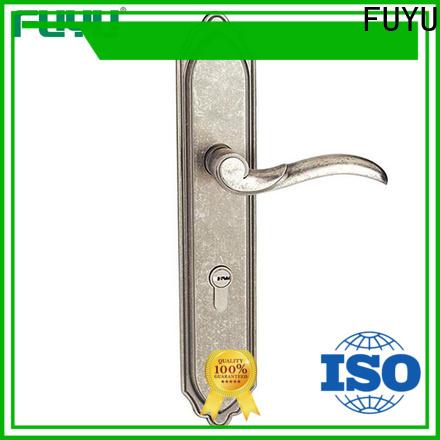 FUYU gate zinc alloy grip handle door lock on sale for entry door