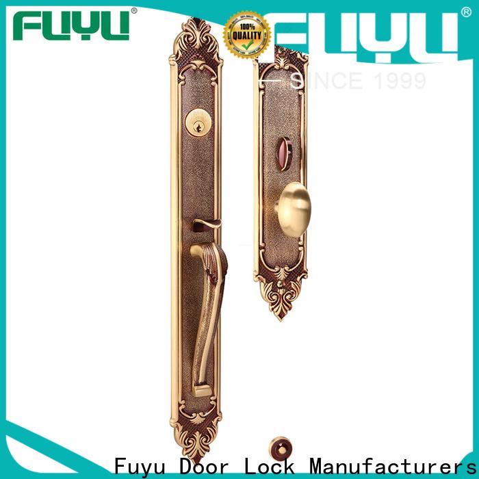FUYU grip handle door lock supplier for shop