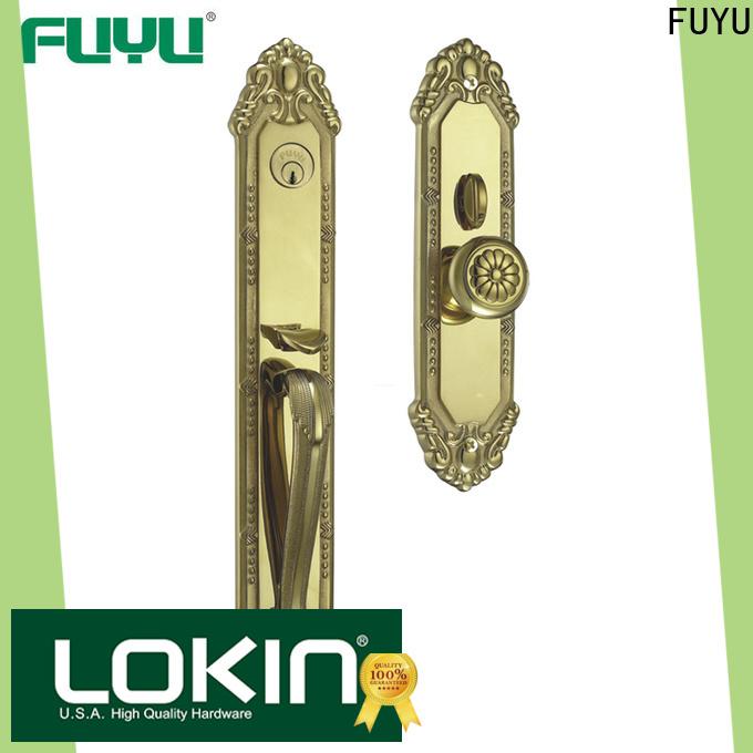 FUYU quality custom brass door lock with latch for mall