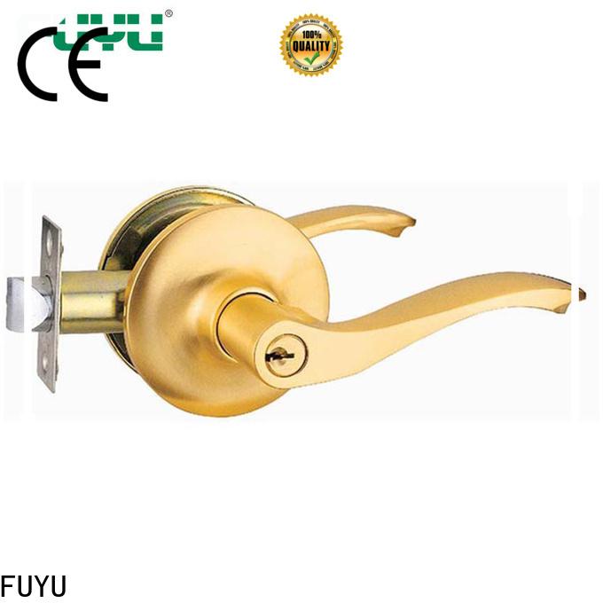 FUYU lever handle door lock with international standard for wooden door