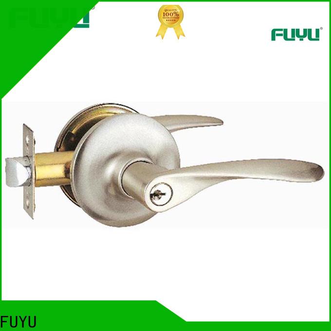 FUYU oem interior door lever handles extremely security for entry door