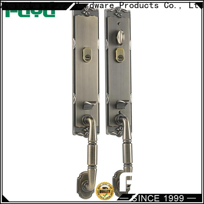FUYU custom zinc alloy mortise handle door lock on sale for indoor