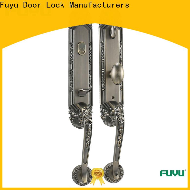 FUYU handle door lock manufacturer for entry door