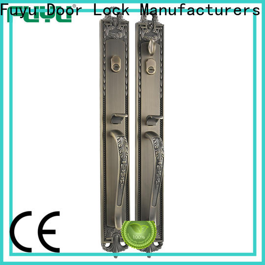 FUYU custom zinc alloy handle door lock on sale for indoor