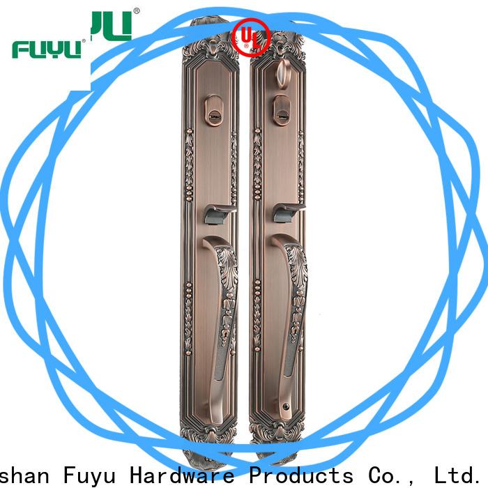 FUYU turn zinc alloy entry door lock with latch for shop