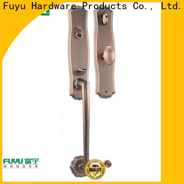 FUYU oem simple door lock with latch for entry door
