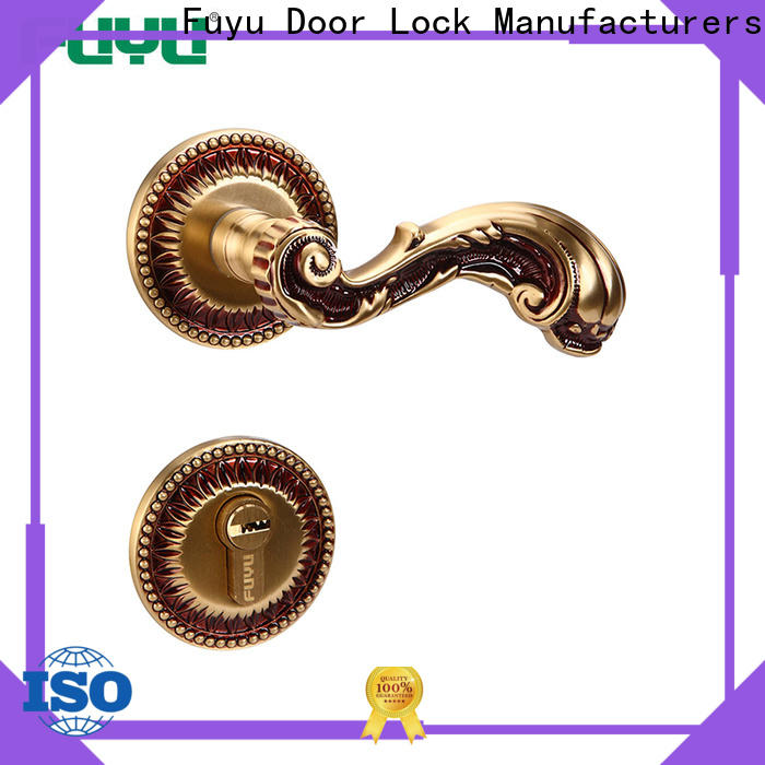 oem wholesale brass door lock lever on sale for wooden door