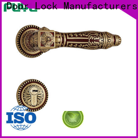 high security gold door handles supplier for toilet
