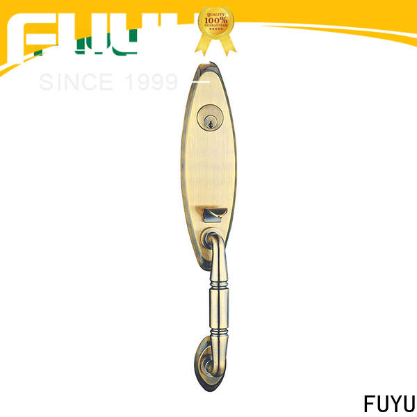 FUYU quality bathroom door handle with lock with latch for entry door
