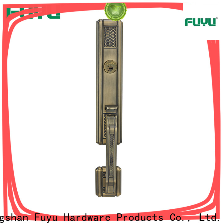 oem zinc alloy entrance door lock handle with latch for mall