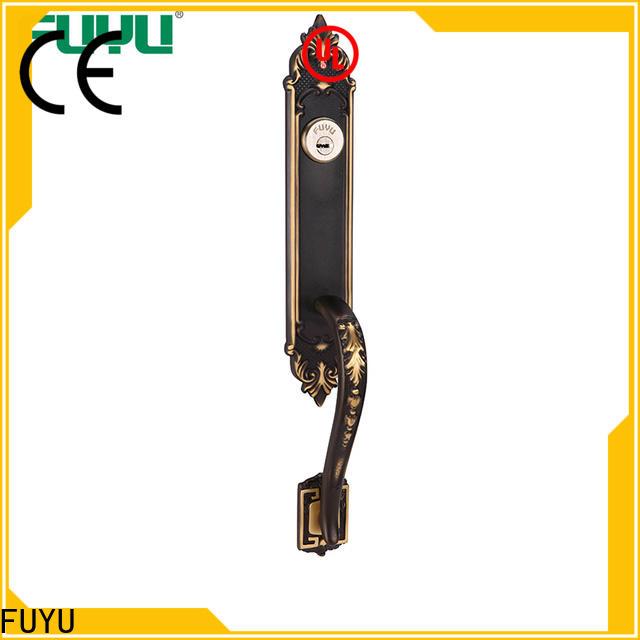 FUYU main brass door locks and handles on sale for wooden door