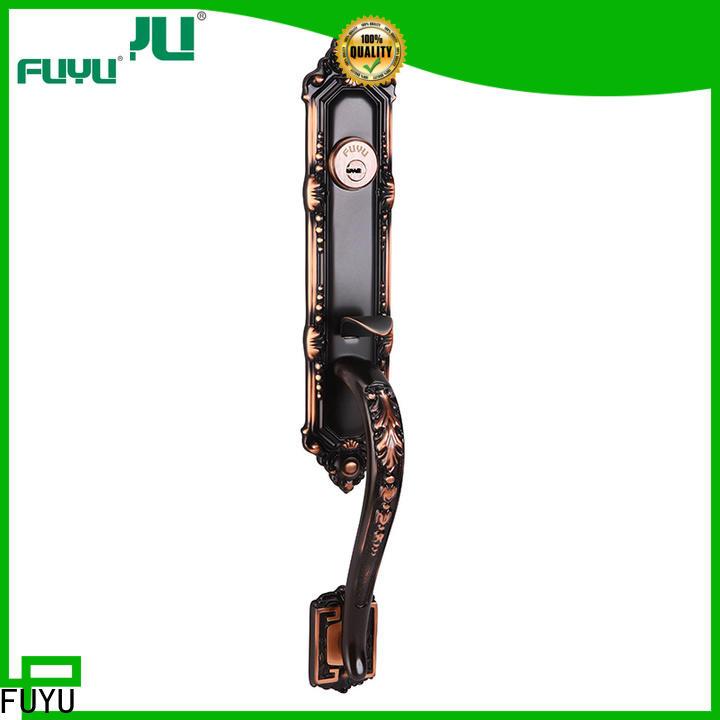 FUYU custom custom brass door lock with latch for residential