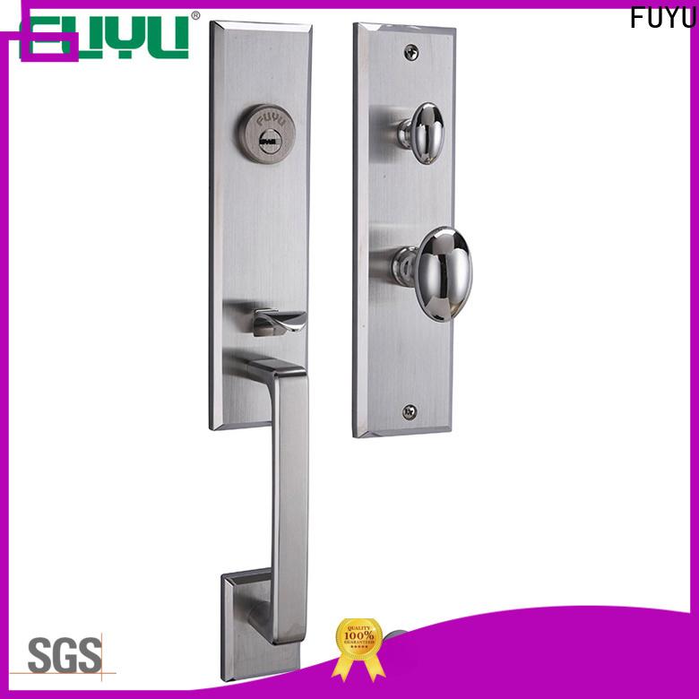 FUYU cylinder wholesale stainless steel door lock with international standard for wooden door