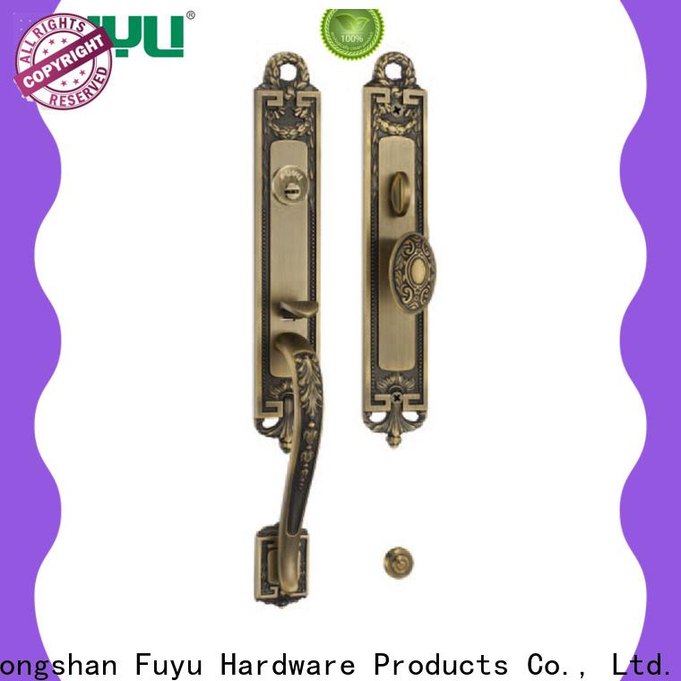 FUYU custom handle door lock manufacturer for wooden door