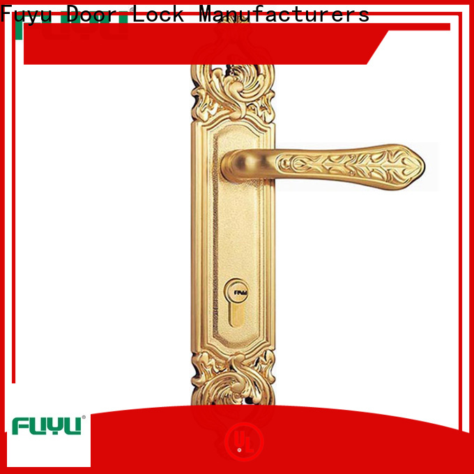 FUYU custom zinc alloy handle door lock meet your demands for mall