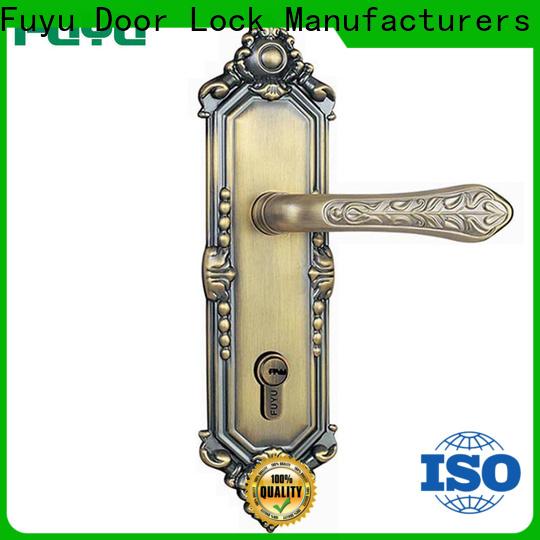 FUYU online door lock design with latch for entry door