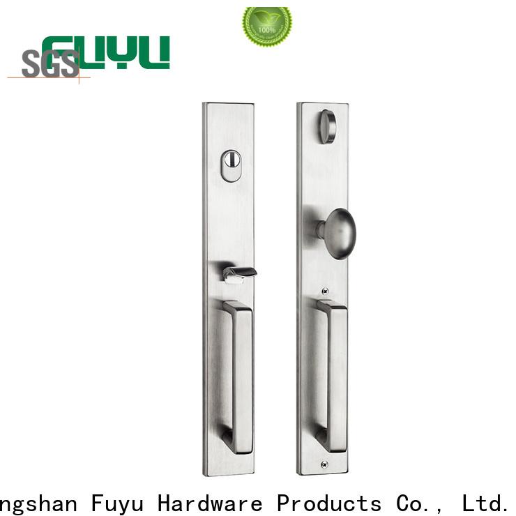 FUYU quality grip handle door lock manufacturer for wooden door